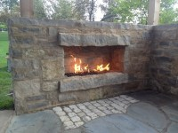 Picures of outdoor natural gas propane fireplaces with ...