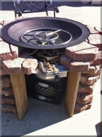 Clean burning outdoor firepits. Propane burner authority ...