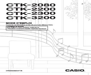 Casio CTK-3200 manuels