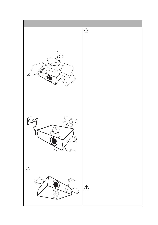Consignes de sécurité (suite), Montage du projecteur au