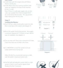installation instructions step 4 step 5 fisher paykel iwl12 manuel d utilisation page 8 80 [ 954 x 1352 Pixel ]