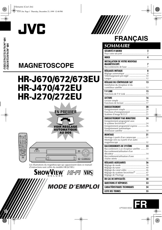 Mode Demploi Magnetoscope Jvc