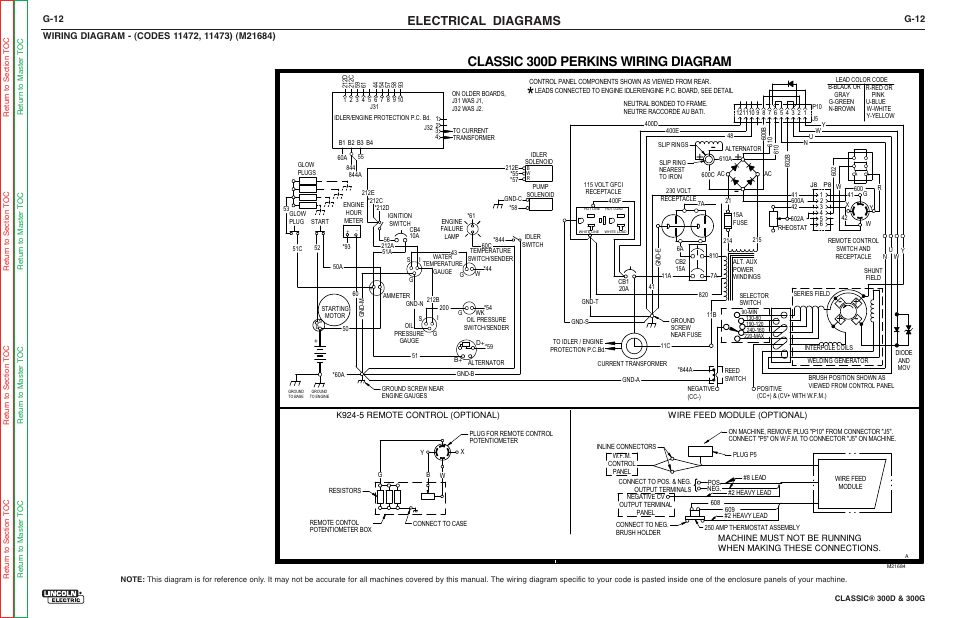 Lincoln Classic 300d Remote Control Wiring Diagram