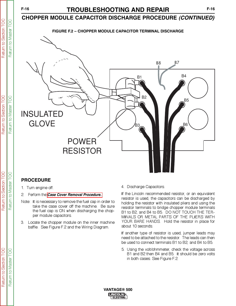 hight resolution of power resistor insulated glove troubleshooting and repair lincoln electric vantage svm178 b manuel d utilisation page 204 278