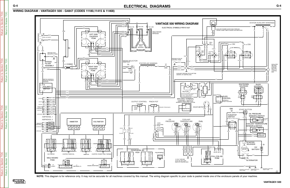 Electrical diagrams, Vantage 500 wiring diagram, Vantage