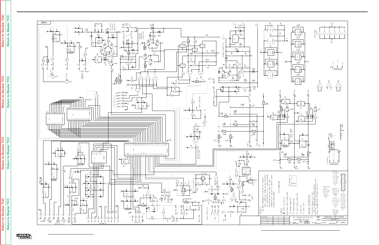hight resolution of electrical diagrams control pc board g2803 schematic lincoln electric wire matic 255 svm 119 a manuel d utilisation page 97 98