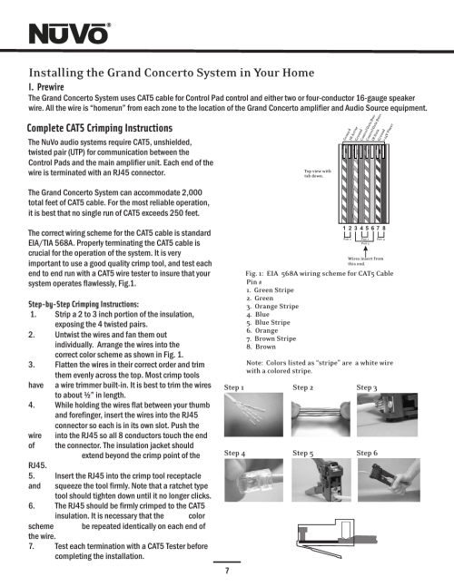 small resolution of cat5 installing the grand concerto system in your home complete cat5 crimping instructions nuvo concerto six source manuel d utilisation page 11 44