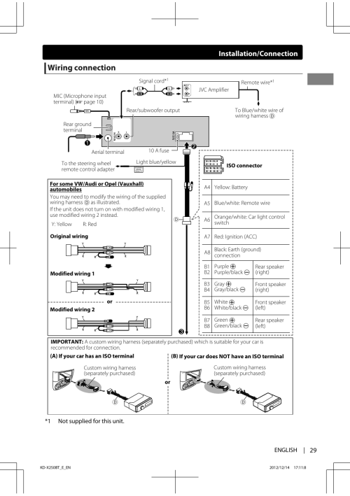 small resolution of jvc kd x250bt wiring diagram wiring librarywiring connection installation connection jvc kd x250bt