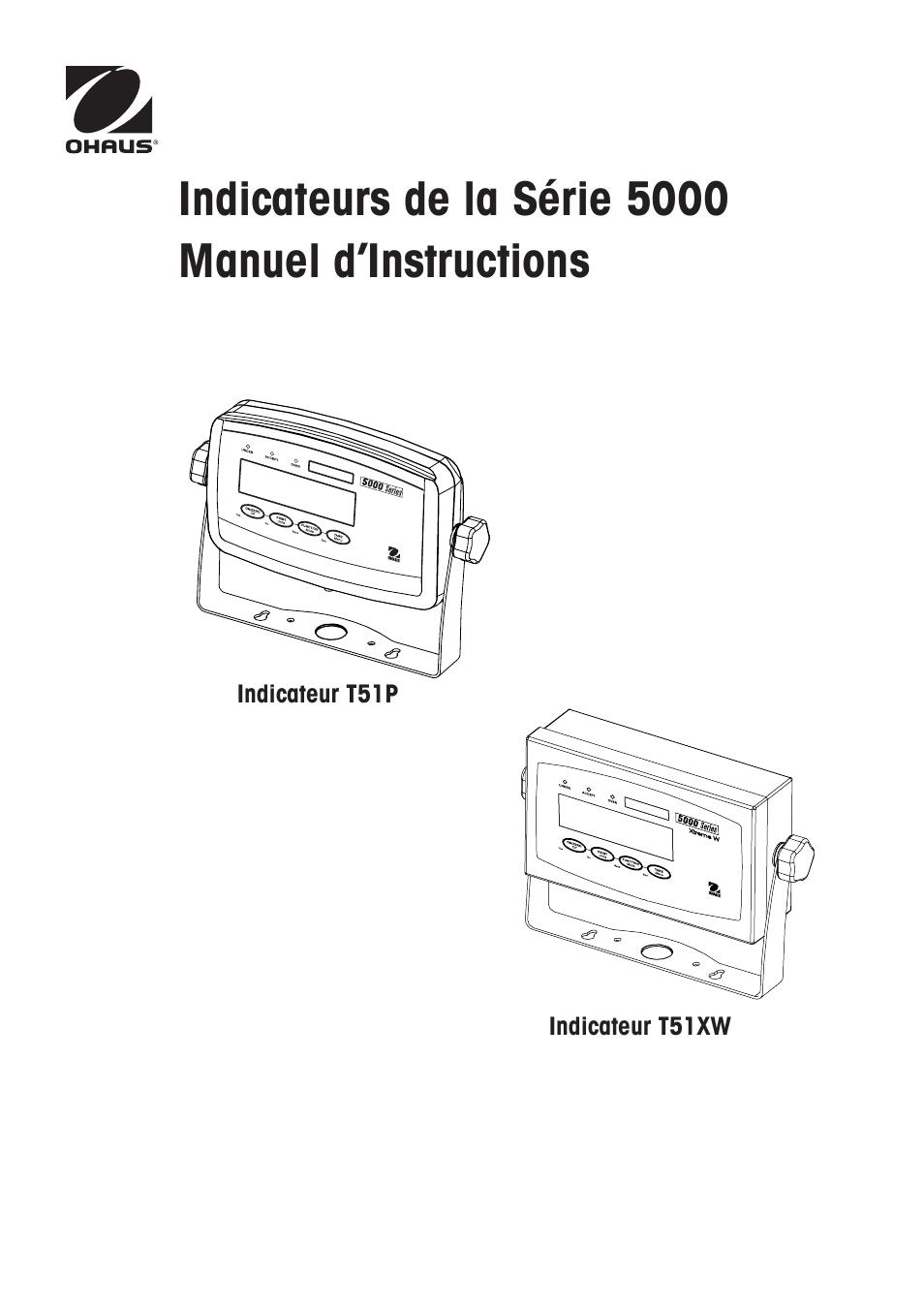 Ohaus DEFENDER 5000 BENCH SCALES Manual fr Manuel d