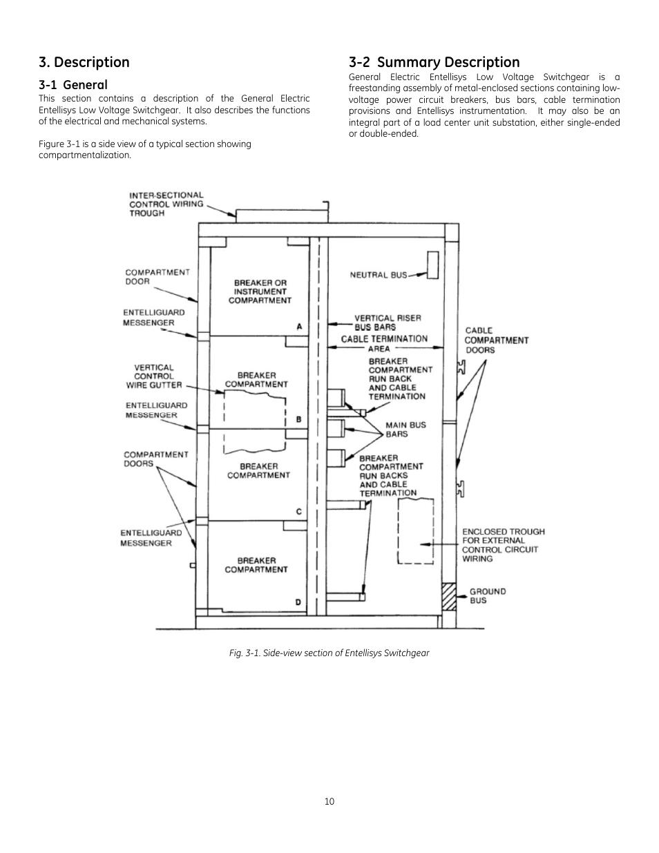 hight resolution of description 2 summary description ge industrial solutions entellisys low voltage switchgear manuel d utilisation page 10 56