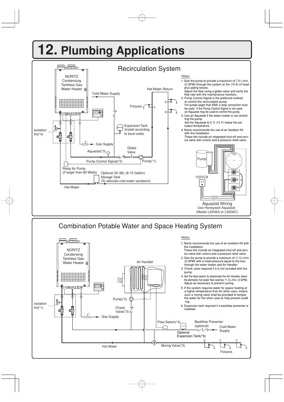 medium resolution of plumbing applications john wood noritz condensing n 0841mc manuel d utilisation page 60 146