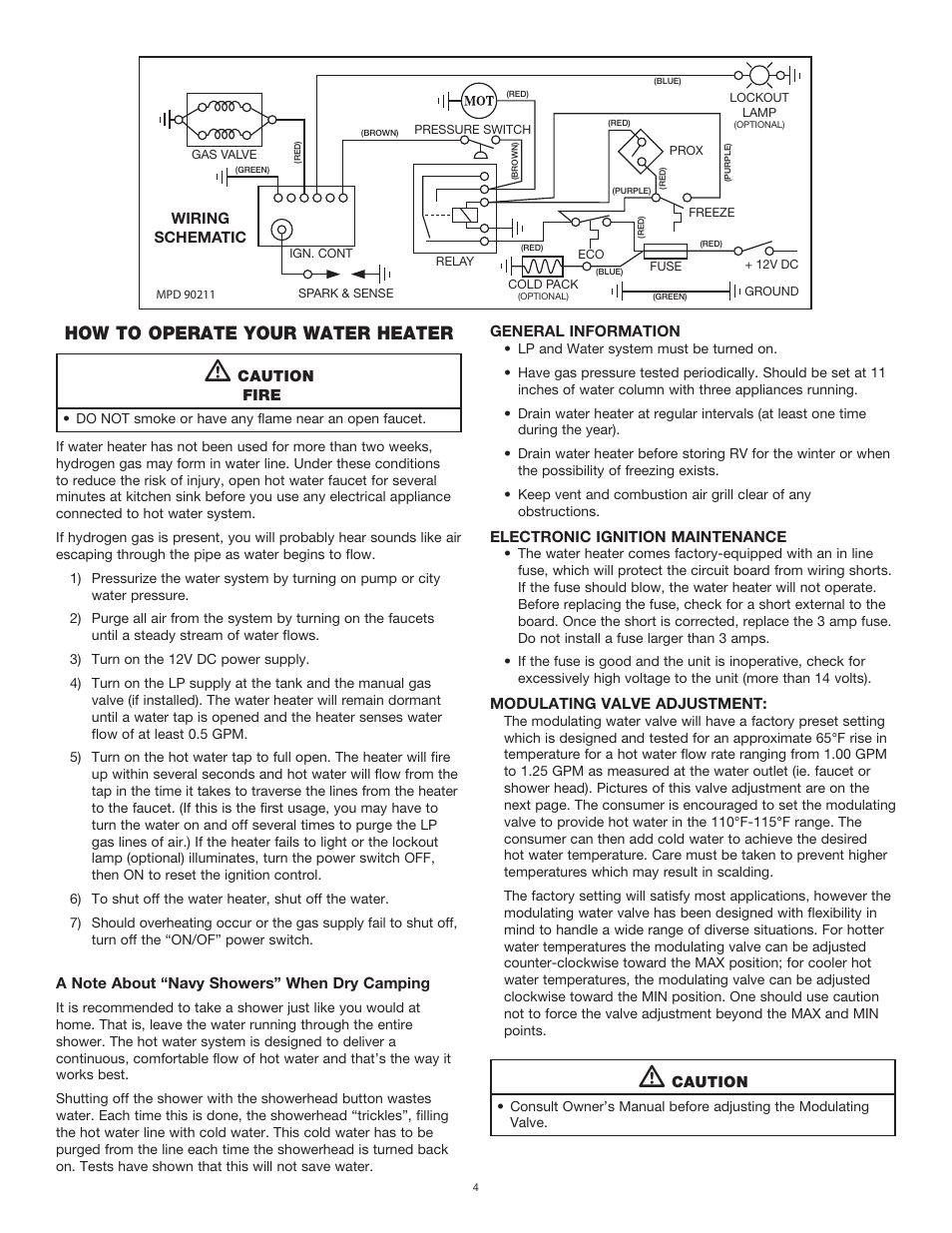 hight resolution of how to operate your water heater atwood od50 od50cw on demand water heaters manuel d utilisation page 4 16