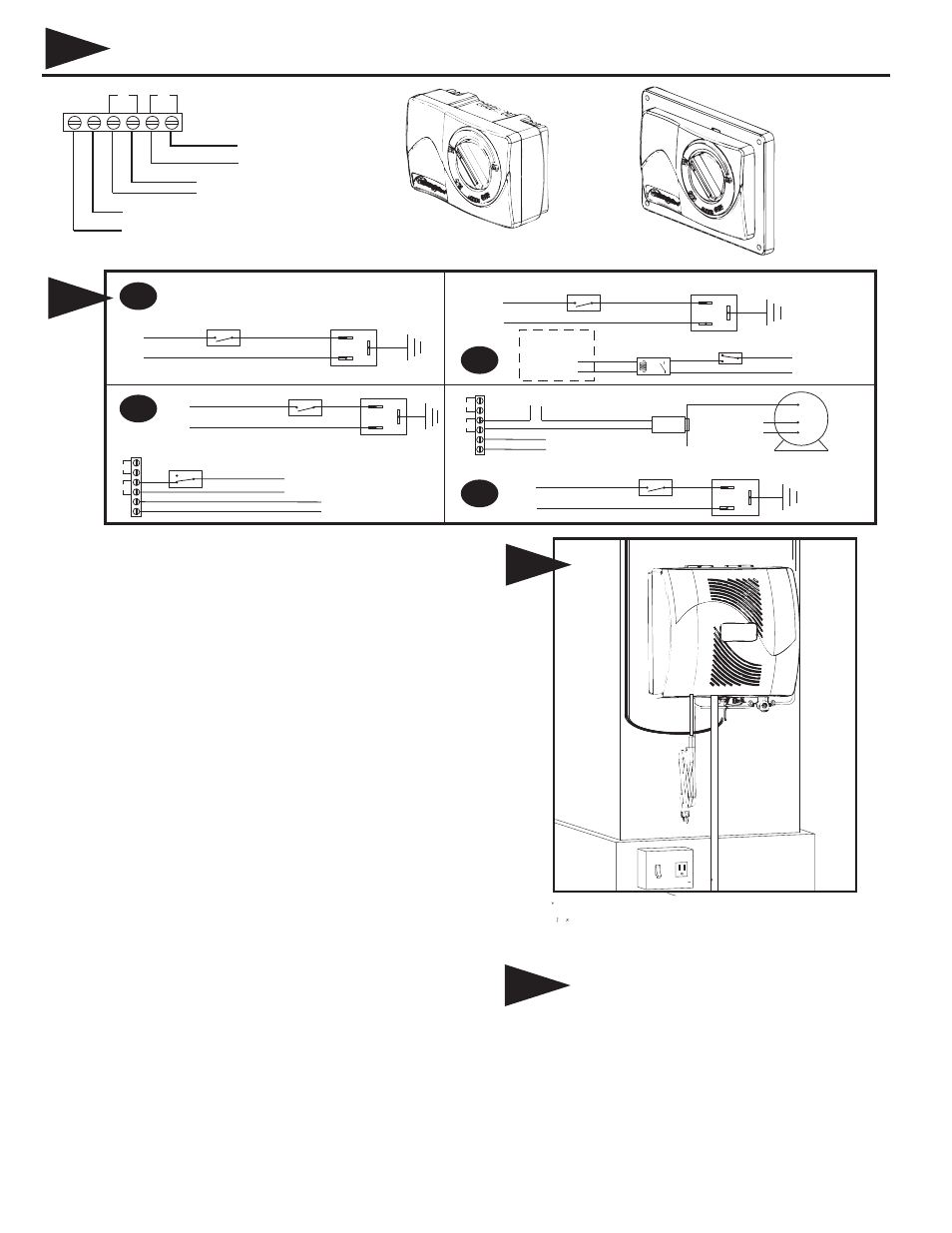 hight resolution of instructions for wiring humidifier gfx3 electronic humidistat 6a 6c 6b generalaire 1000 series elite manuel d utilisation page 2 12