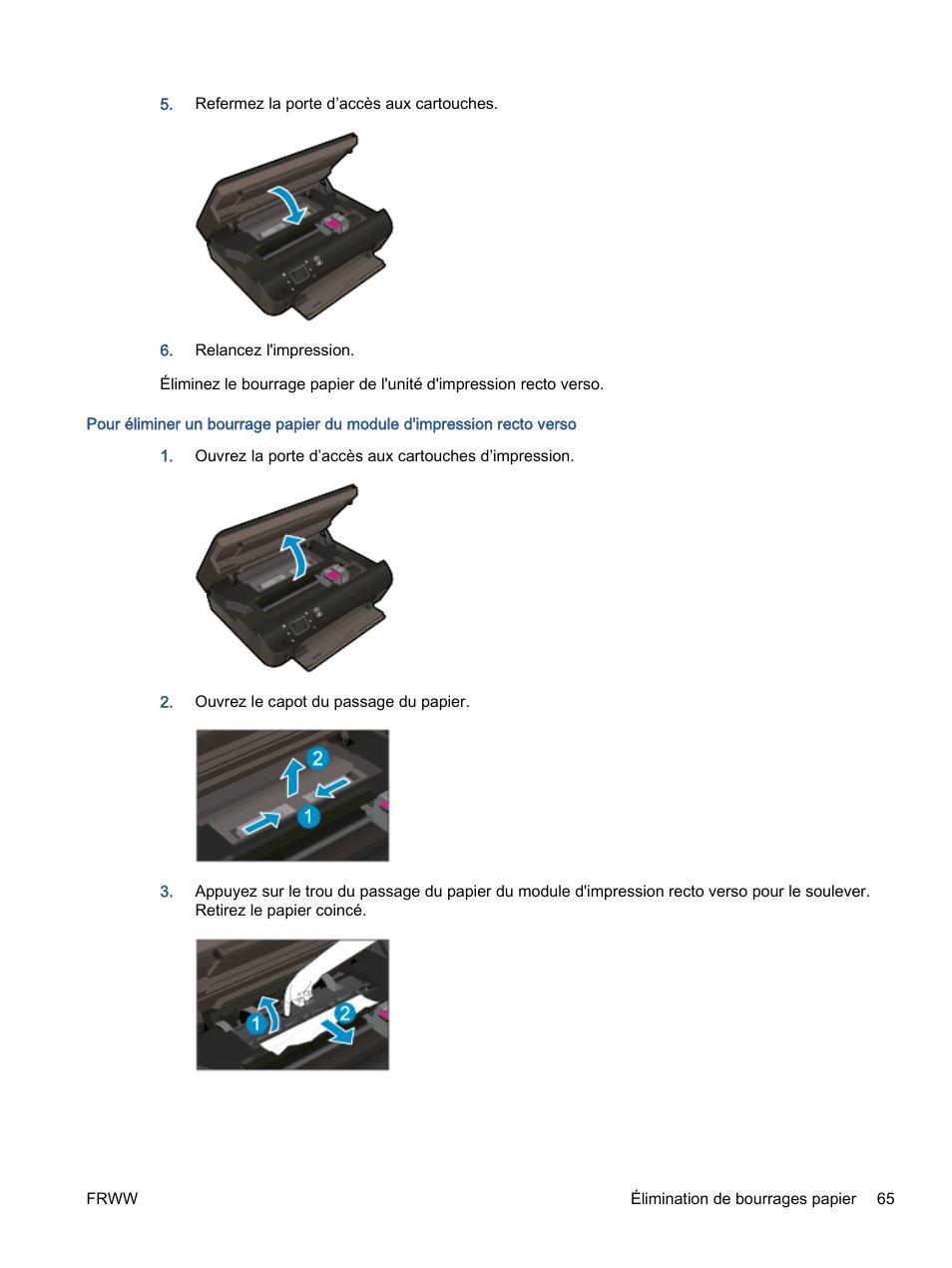 HP Imprimante e-Tout-en-Un HP ENVY 5530 Manuel d
