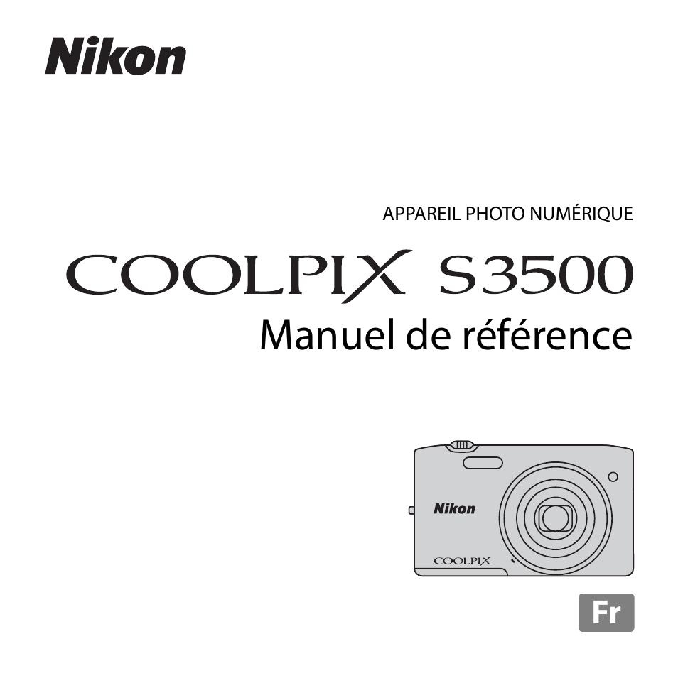Nikon D3500 Mode Demploi Pdf