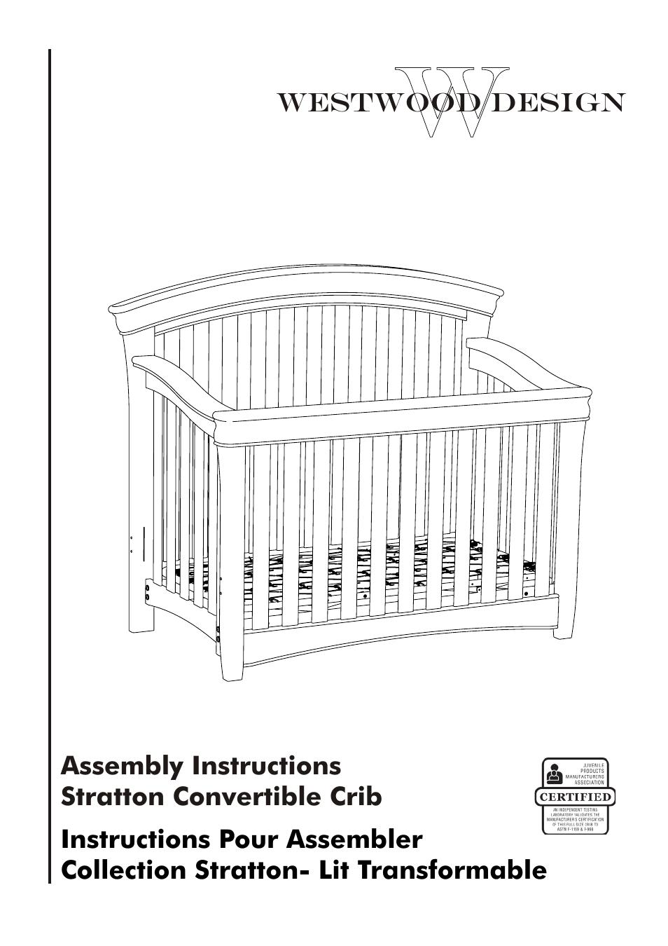 Westwood Design Stratton Convertible Crib Manuel d