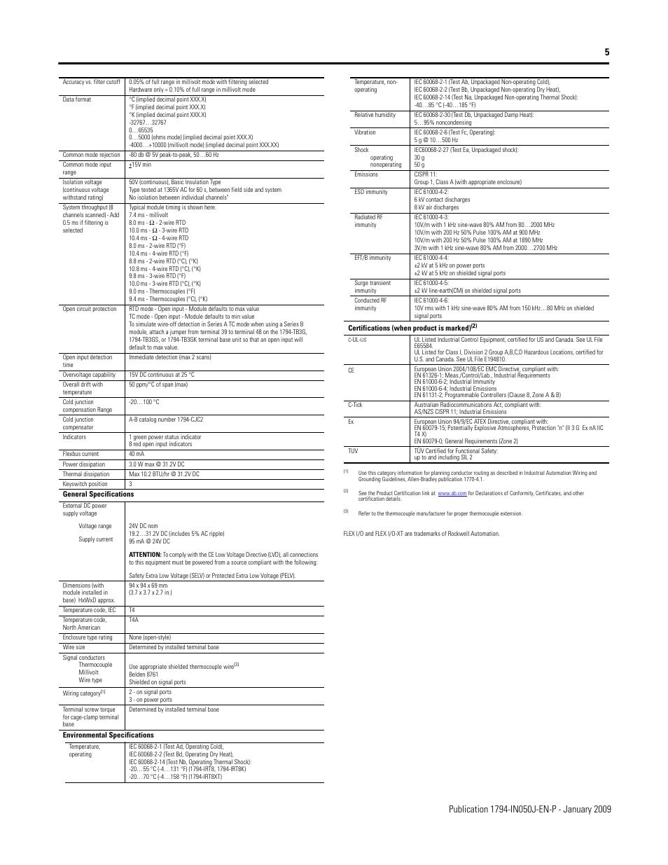 Rockwell Automation 1794-IRT8XT/B TC/MV/RTD Input Module