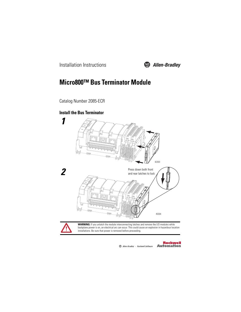 Rockwell Automation 2085-ECR Micro800 Bus Terminator