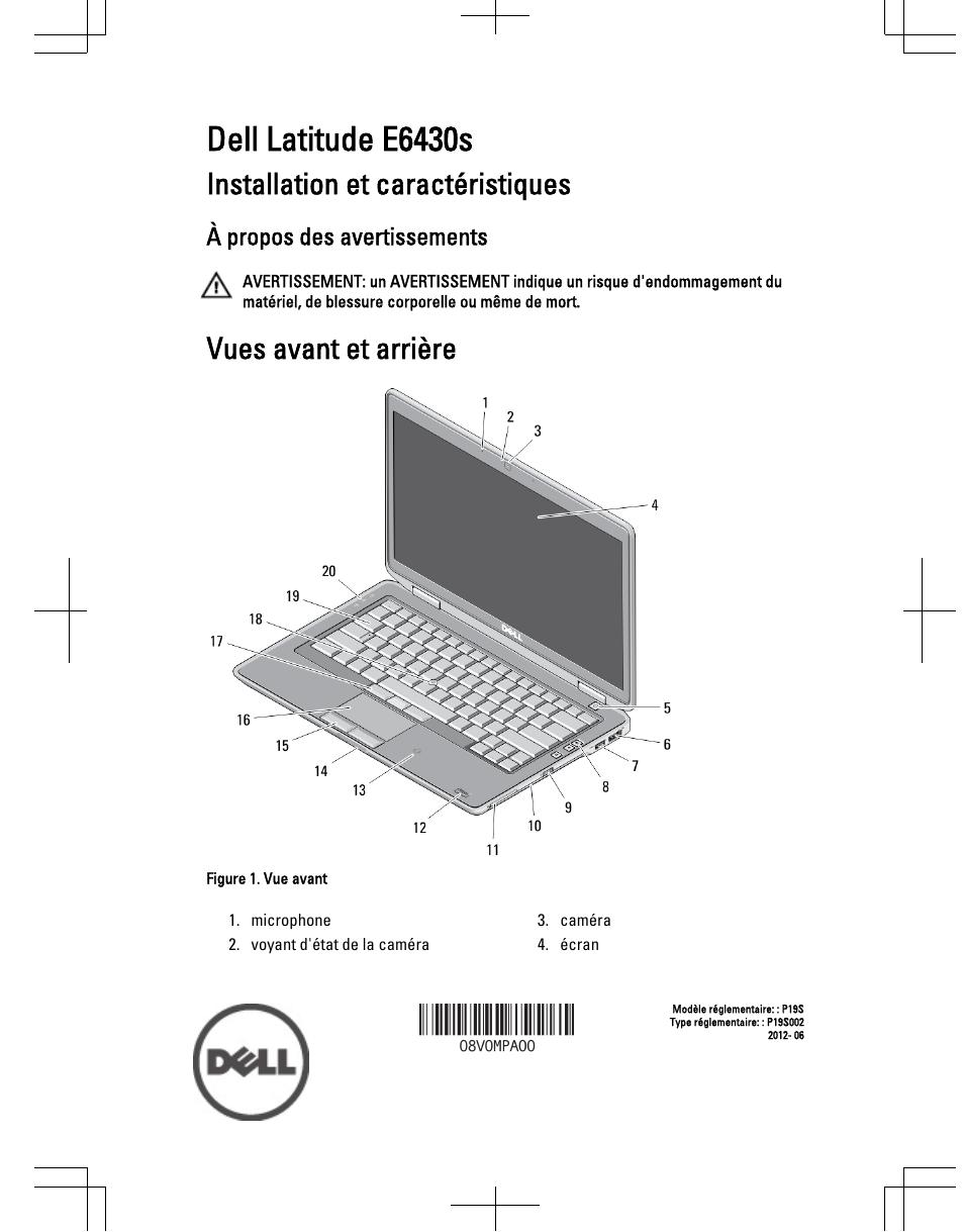 Dell Latitude E6430s (Mid 2012) Manuel d'utilisation