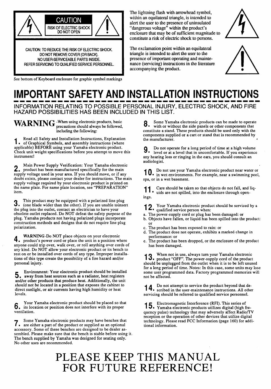 medium resolution of please keep this manual for future reference caution importanj yamaha clavinova cvp 55 manuel d utilisation page 2 26