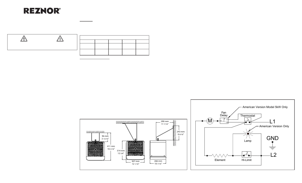 medium resolution of reznor overhead heater electronic ignition wiring diagram