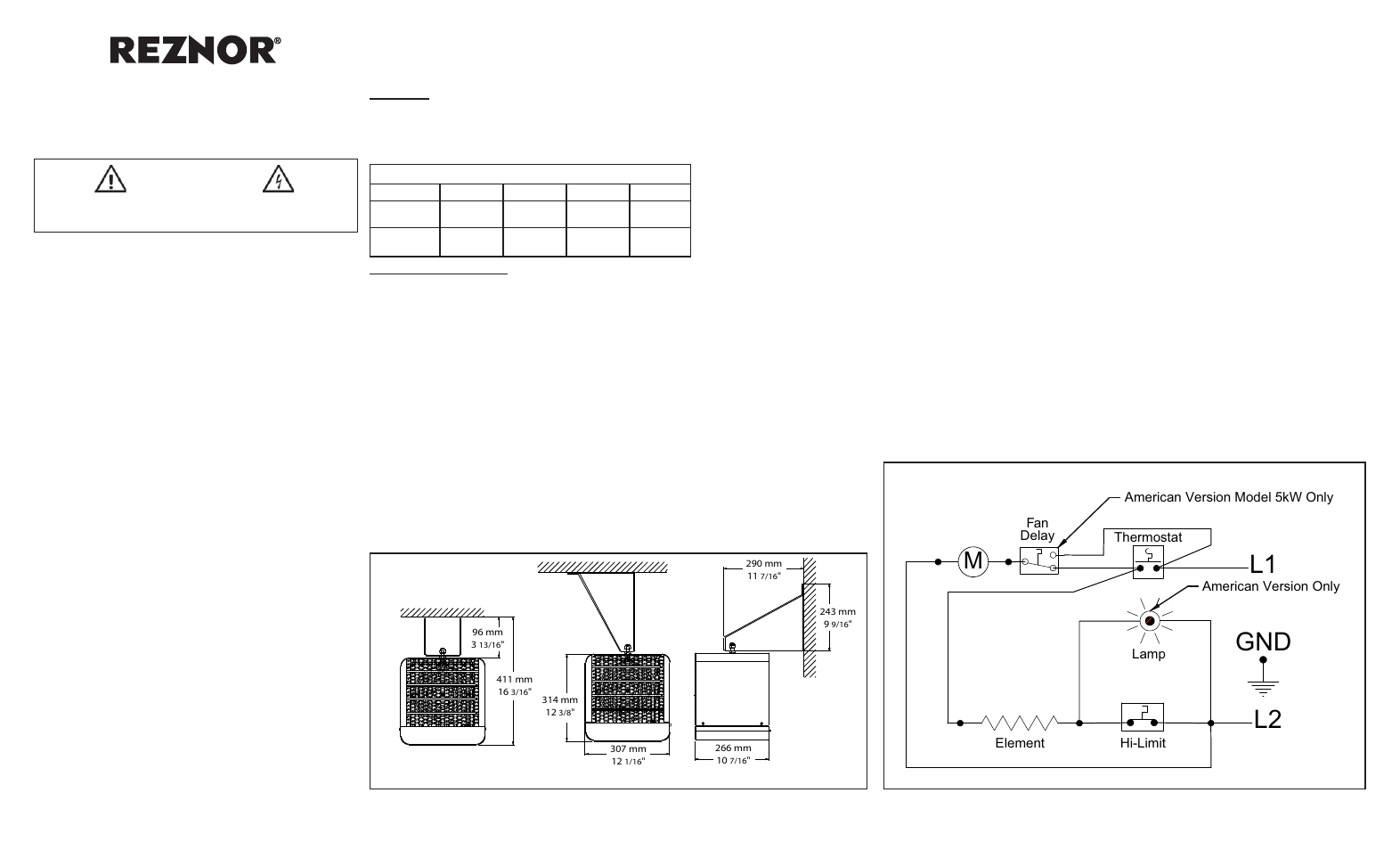 hight resolution of reznor overhead heater electronic ignition wiring diagram