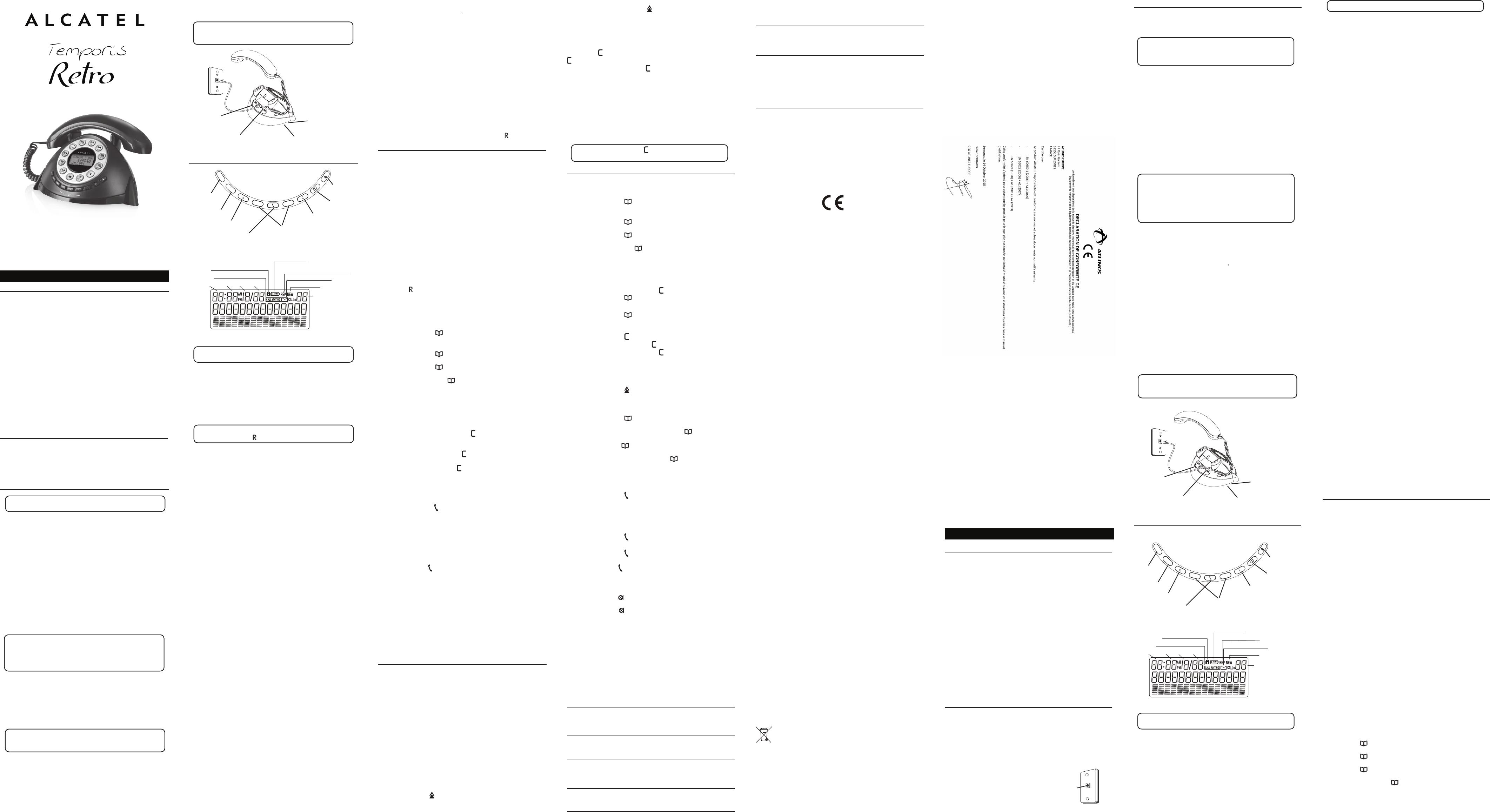 Mode Demploi Alcatel Temporis 780