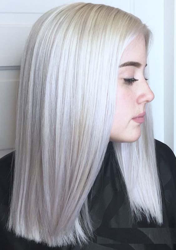 36 Popular Platinum Blonde Hair Color Trends for 2018