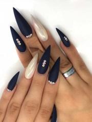 modern stiletto shape long nail