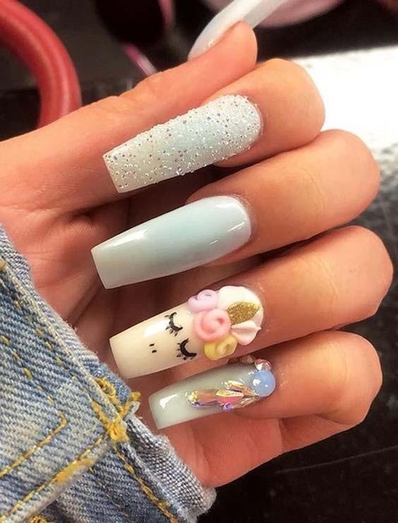15 Trending Unicorn Nail Art Designs For 2018 Modeshack