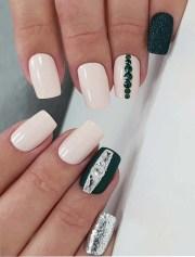 lovely black & white nail art