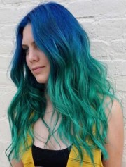 amazing blue green ombre hair