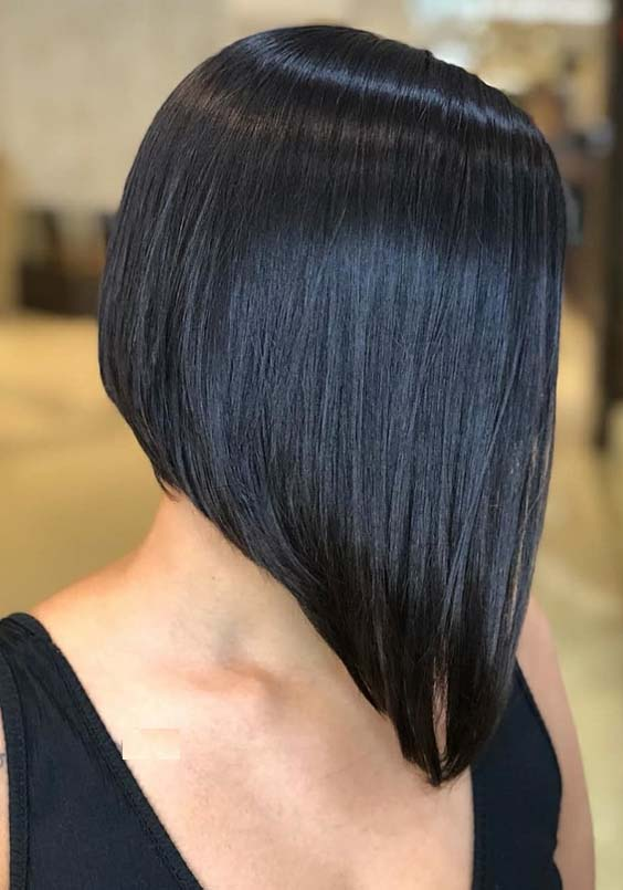 20 Trendy Angled Bob Haircuts for Women 2018  Modeshack