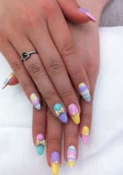 colorful long nail art design