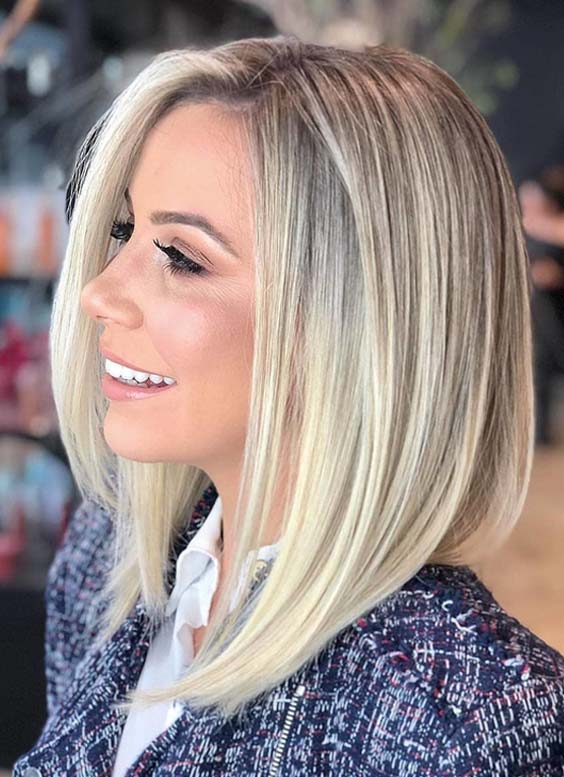 44 Stunning Shoulder Length Blonde Haircuts For 2018