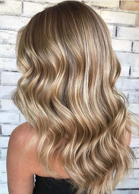 46 Gorgeous Toasted Coconut Long Wavy Hairstyles in 2018  Modeshack