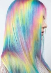 amazing pastel rainbow hair