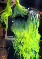 crazy neon hair color ideas