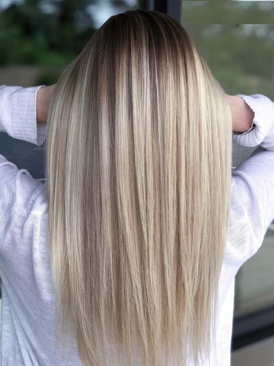 33 Gorgeous Sleek Straight Balayage Hairstyles for 2018
