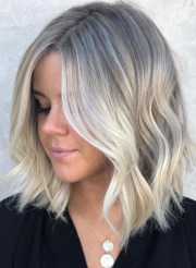 trendy medium length blonde haircuts