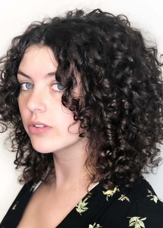Naturally Curly Hairstyles For Short To Medium Hair In 2019