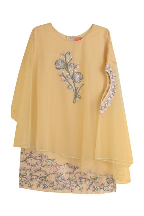 Girls Flower Cape Dress