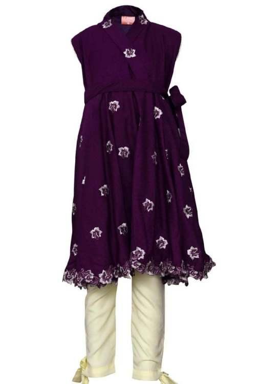 eastern-western fusion purple kurti