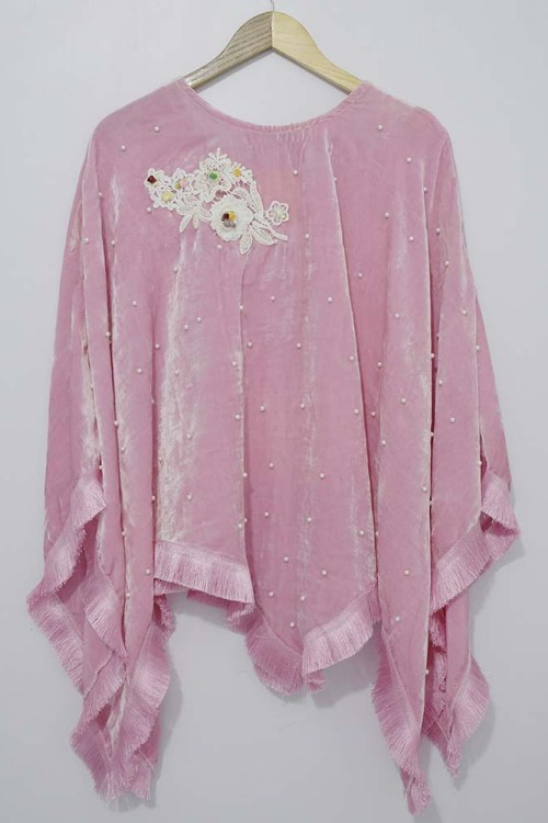 pink velvet girls dress