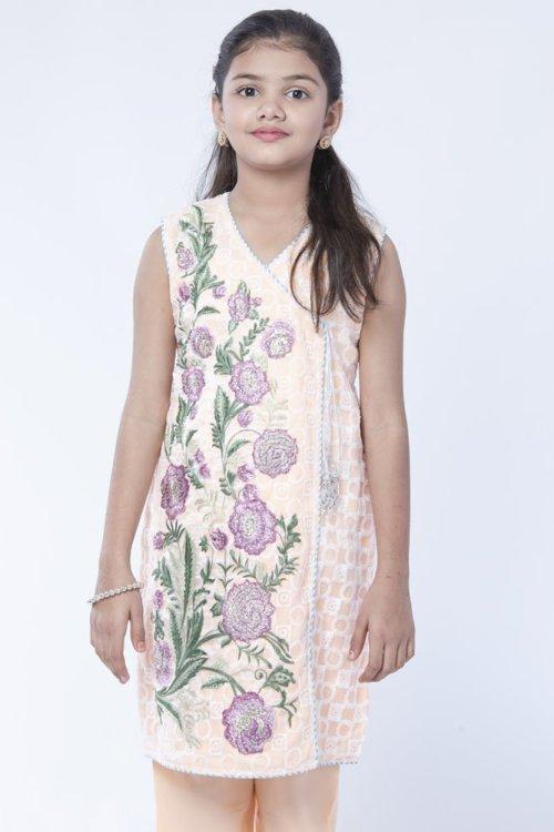 girls embroidered angrakha dress