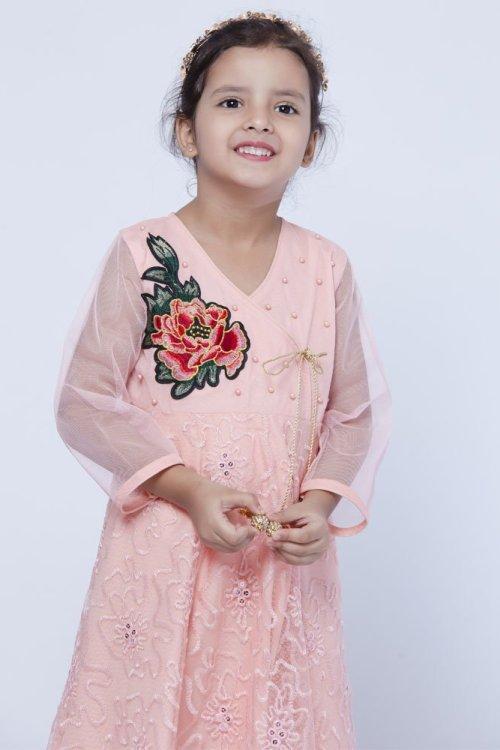 kids floral design dress
