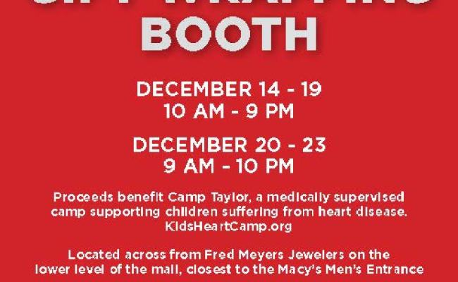 Vintage Faire Mall Welcomes Back Camp Taylor Gift Wrapping