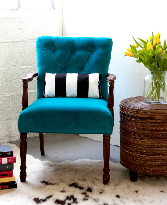 How to Upholster a Chair Attaching the Outside Back