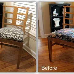 Dining Chair Upholstery Wood Bankers Shortcuts Modhomeec I