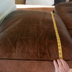 Leather Chair Cushions 2 Table And Chairs Fix Flattened Down Sofa Modhomeec